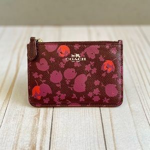 Coach Leather Poppy Coin Purse Zip Wallet